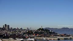 San Francisco (SLDdigital) Tags: sanfrancisco bayarea baybridge cityscape slddigital urbanlandscape buildings coittower sky skyscrapers bay california ca californialandscapes mountains