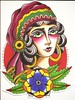 Gitana!  #draw #traditionaltattoo #illustration #gitana #gypsy #paint #gypsytattoo (Daniel Lokillo!) Tags: paint gypsy illustration gypsytattoo gitana traditionaltattoo draw