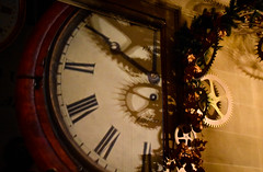 Time (littlestschnauzer) Tags: time clock cogs decoration festive chatsworth house uk derbyshire theme nutcracker 2016 xmas christmas