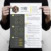 Yellow Clean Resume – Free PSD Template (psdmarket) Tags: business clean creative cv editable freepsd job modern professional psd resume stationary template