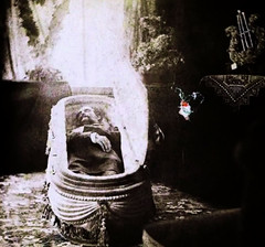 In Repose (~ Lone Wadi ~) Tags: coffin casket death funeral wake unknown indoors retro 1890s 19thcentury victorian corpse postmortem