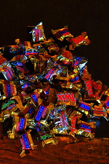 Mini-Chocolate Bars:  (an often inexplicable) phenomena (richardzx) Tags: candybar twix snickers richardzx milkywaycandybar milkyway