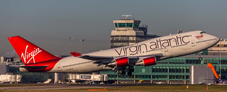Virgin Atlantic 747-400 G-VXLG