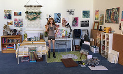 Artist's Bedroom (butterfly_house) Tags: onesixthscale 16scale playscale barbie barbiemtm roombox diorama dollhouse