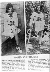 MARILYN the Uniped Cheerleader (jackcast2015) Tags: handicapped disabledwoman crippledwoman crutches amputee hdamputee