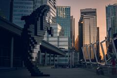 Pixelation (anthony_wan) Tags: digital orca pixel voxel pixelated sculpture downtown harbour harbor harborfront building convention sunset sundown skyscraper skyline vancouver britishcolumbia canada nikon d5200 afsdxnikkor35mmf18g