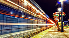 The Ghost Train (markalt) Tags: dark darkness light longexposure train canon photography colorful night nightphotography usavacation usa denver colorado