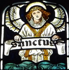 Youlgreave, Derbyshire - All Saints - Stained Glass (Glass Angel) Tags: allsaintschurch youlgreave derbyshire morrisco angels stainedglasswindows stainedglass