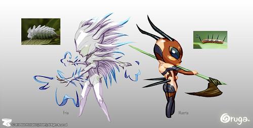 Character designer - illustration 75 | Oruga | Fria | Muerta