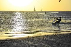 Abstract Beach Aruba (Don Mosher Photography) Tags: ocean travel sunset beach waves wind surfing aruba