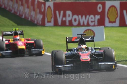 Stoffel Vandoorne in the GP2 Feature Race at the 2015 Belgium Grand Prix