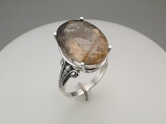 Rutilated qtz vintage shank ring