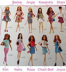 They have names? (toomanypictures1) Tags: names fashionista mattel 2015