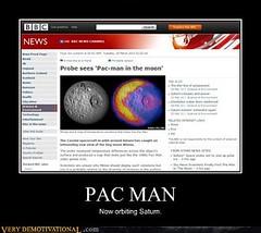 Pac-Man vs Saturn (Chikkenburger) Tags: posters memes demotivational cheezburger workharder memebase verydemotivational notsmarter chikkenburger
