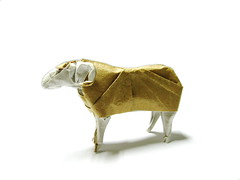 Sheep (Al3bbasi.) Tags: sculpture art animal paper design origami sheep goat kamiyasatoshi al3bbasi