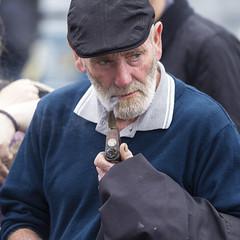 Puffing away (Frank Fullard) Tags: street ireland portrait irish beard candid pipe cap mayo ballina pipesmoker fullard frankfullard