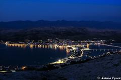 Blue Hour (_Natasa_) Tags: city longexposure blue sea water canon island lights croatia bluehour pag adriatic hrvatska otok jadran otokpag canoneos7d canonef2470mmf28liiusm natasaopacic natasaopacicphotography
