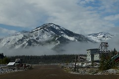 Yankee Fork Gold Dredge, Idaho (vambo25) Tags: ghosttown custer idaho yankeefork gold dredge mining winter snow bonanza abandoned derelict equipment industrial dirtroad