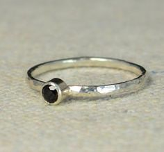 Classic Sterling Sil (alaridesign) Tags: black classic silver band jewelry ring mothers sterling solitaire 3mm spinel
