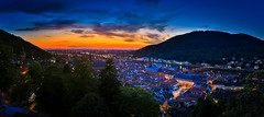 Heidelberg (Constantinos P) Tags: city blue sunset germany lights cityscape hour heidelberg constantinospanayidesphotography constantinospanayides
