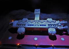Eagle 6, Landing Pad at MD3. (ManOfYorkshire) Tags: moon scale lights tv model eagle space scifi series sciencefiction diorama transporter space1999 landingpad diecast scratchbuilt gerryanderson productenterprise md3 eagle6 moondepot3