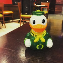 Oregon Duck for trivia night. (peachy92) Tags: lark chathamcountyga chathamcountygeorgia chatham savannah iphone chathamcounty 2015 instagram unclemaddiospizzajoint restaurant restaurants ducks duck rubberducks rubberduck duckie ducky rubberducky rubberduckies rubberduckie universityoforegon oregonducks ga georgia us usa unitedstates unitedstatesofamerica iphone6 savannahgeorgia savannahga instagramapp iphoneography iphonegraphy square