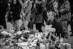 (tugasgm) Tags: family flowers people paris france flower fountain french photography photo foto photographie sad place pic hommage fr francia franais parisian victims bataclan franaise atentados terrorisme placedelarepublique attentats
