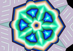 Blue & Green (crescentmoongal) Tags: abstract color kaleidoscopes