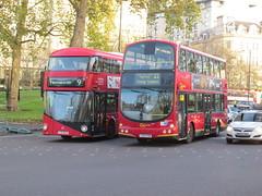 LT75 & WVL173, Duke of Wellington Way, London, 18/11/15 (aecregent) Tags: london 22 volvo 9 wright lt londonunited londongeneral goahead nb4l wvl nbfl newroutemaster b7tl eclipsegemini goaheadlondon lt75 newbusforlondon 181115 borismaster ratpgroup wvl173 ltz1075 dukeofwellingtonway londonbuses2015 lk05fbn