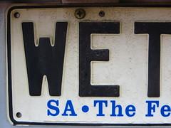 WET (RS 1990) Tags: wet sa southaustralia numberplate threeletterword