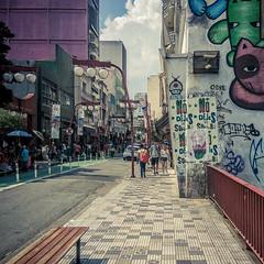 Shrooms on the street (MastaBaba) Tags: sãopaulo brazil br street mario supermario mushroom liberdade chinatown bridge wall mural