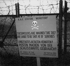 Warning notice (Andrew Green @nature_spotter) Tags: raf wunstorm berlin airlift 1949
