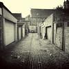 square twenty three (weirdoldhattie) Tags: bristol bs7 nevilrd nevilroad lane alley alleyway bw blackandwhite monochrome square cobbles horfield