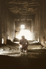 (No Stone Unturned Photography) Tags: abandoned smelter mining industrial urbex fallout wasteland desert cosplay costume post apocalyptic girl woman