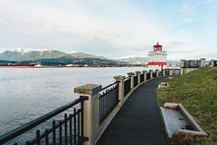 Lighthouse (eric.vanryswyk) Tags: lighthouse light house vancouver british columbia canada nikon d610 nikkor 20mm f18 stanley park grass ocean burrard inlet north pacific sea sky northshore mountains snow ice forest fence