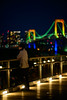 Lonely (H.H. Mahal Alysheba) Tags: tokyo night snapshot bridge rainbowbridge people afs nikkor 105mmf14 d800 nikon