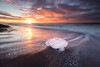 Tears In Heaven (Luca Libralato) Tags: iceland jokulsarlon libralato lucalibralato canoneos6d canon1635 beach ocean sand sunrise clouds sea sun blacksand haida ndfilter gndfilter islanda alba iceberg ghiacciaio laguna glacier glacierlagoon
