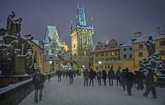 Winter Mood. Prague, Czech Republic. (Al Sanin) Tags: prague charles bridge czechrepublic charlesbridge winter night capital