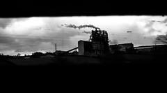 (kurtgrüng) Tags: widescreen wide angle wideangle bmpcc cinemacamera blackmagiccamera stillframe still frame 16mm russianlens anamorphiclens anamorphic photography dark industry industrial factory wasteland moody 2351 169 digitalfilm dynamicrange 13stops blackandwhite grain bw monochrome