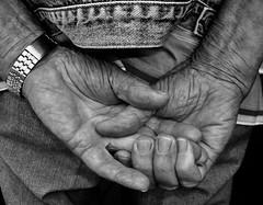 Work hands......retired (rienschrier) Tags: people mensen work blackandwhite zwartwit monochroom handen hands man