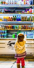 18:365 - Chosen (LostOne1000) Tags: beverages cy365 3652017 choose water chosen cedarrapidspubliclibrary 18jan17 pointing soda girl snacks day18365 365the2017edition refrigerator display juice drinks 18365