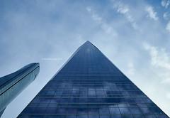 Glass Towers (III) (Modesto Vega) Tags: architect architecture arquitecto arquitectura cbta cuatrotorresbusinessarea césarpelli d600 fullframe henryncobb madrid nikon nikond600 peicobbfreed rascacielos skyscraper spacetower torredecristal towerofglass
