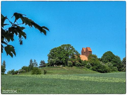 Blick zur Göhrener Kirche