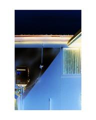 backyard mask (TVSCREEN00) Tags: contrast grain film ishootfilm focus blue dark composition colour border art day minmal minimalism