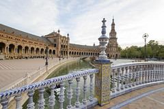 Plaza de Espana - Sevilla lll (rschnaible) Tags: sevilla spain espana europe sightseeing tour tourist outdoor building architecture plaza de old history historic government