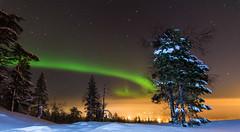 Aurora (DieLei) Tags: aurora northernlight northernlights auroraborealis lapland finland europe night noorderlicht europa landscape landschap stars sterren snow sneeuw nacht outdoor