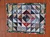 18 Scrap triangle rug 1 (mariwarner) Tags: patchwork halfsquaretriangles rug scraps diamondpattern