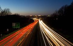 Welcome to Plymouth (Rich Walker75) Tags: plymouth devon lighttrails lighttrail traffictrails traffic traffictrail longexposure longexposures longexposurephotography bluehour blur dusk evening landscape landscapes landscapephotography canon eos100d efs1585mmisusm efs