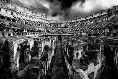 _DSC5095 (-gab-645) Tags: colosseo roma anfiteatro flavio biancoenero rome bw beautiful nuvole archeologia italia europa sigma nikond7100 1020 grandangolo prospettiva colori