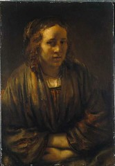 Rembrandt — Portrait of Hendrickje Stoffels, 1659 // Painting: Oil on panel, 72.5 x 51.5 cm. The Städel, Frankfurt. The depth of sensitivity in Rembrandt's portrayal moves me nearly beyond words. On the one hand, the sitter is remote to us - retreating in (ArtAppreciated) Tags: fineart painting blogs tumblr artblogs artappreciated artoftheday artofdarkness artofdarknessco artofdarknessblog rembrandt female portraits realism date1659 1650s 17th century dutch masters old golden age hendrickje stoffels stoffel portraiture van rijn art history darkness artofdarknesscovu peintre pintura artblog appreciated daily